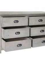 Besp-Oak Weathered Ash 6 Drawer Dresser