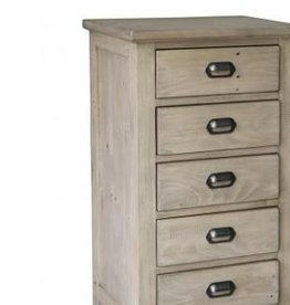Besp-Oak Weathered Ash 6 Drawer Tallboy