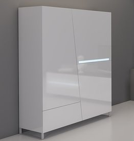 Lola Modern 2 Door 1 Drawer Cabinet