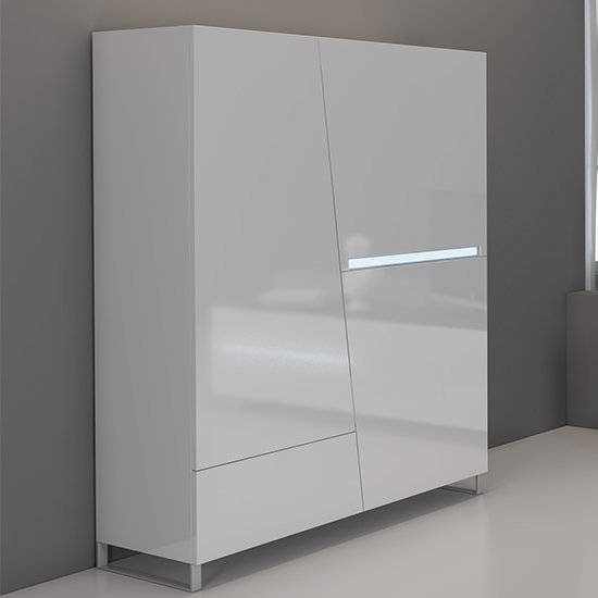 Lola Modern 2 Door 1 Drawer Cabinet