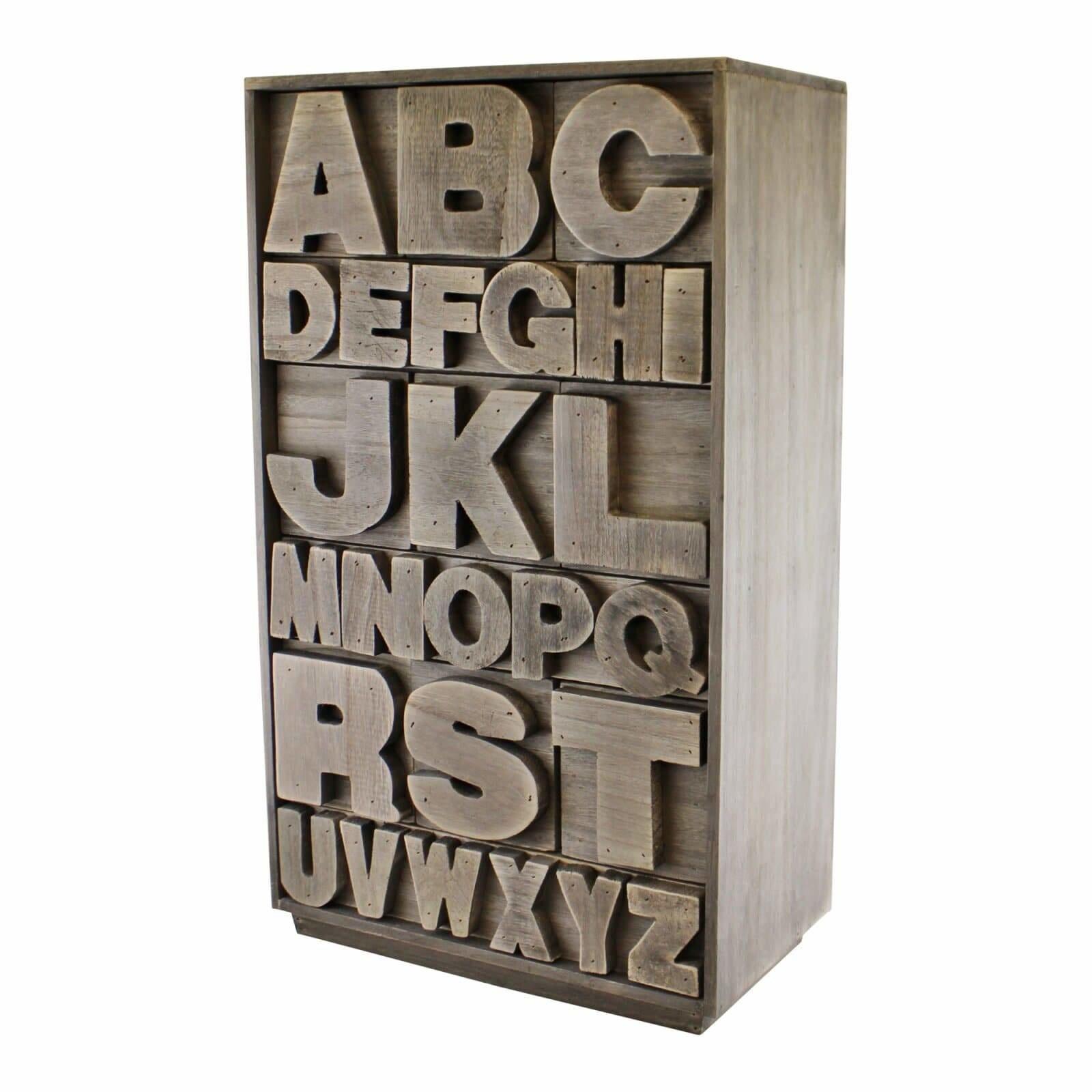 Wooden Alphabet Storage Unit