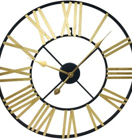 Large Gold & Black Clock