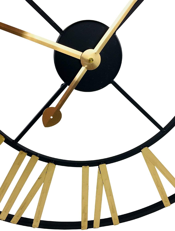 Large Gold & Black Clock