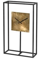 Black & Gold Square Frame Table Clock