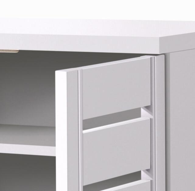 Modern White 3 Door Shoe Cabinet