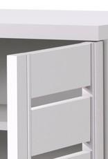Modern White 2 Door Shoe Cabinet
