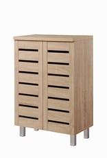 Modern Sonoma Oak  2 Door Shoe Cabinet