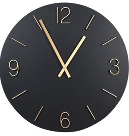 Elegant Black & Gold Wall Clock
