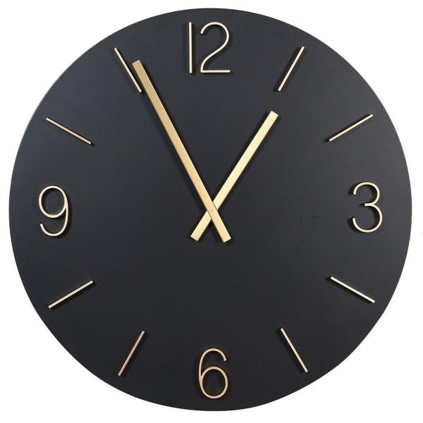 Elegant Black & Gold Wall Clock