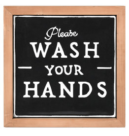 Please Wash Your Hands Sign - Black