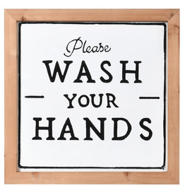 Please Wash Your Hands Sign - White