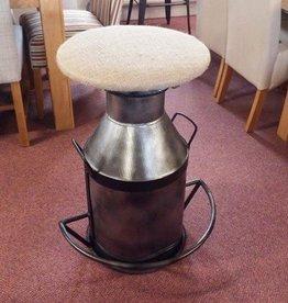 Milk Churn Bar Stool Hessian Top