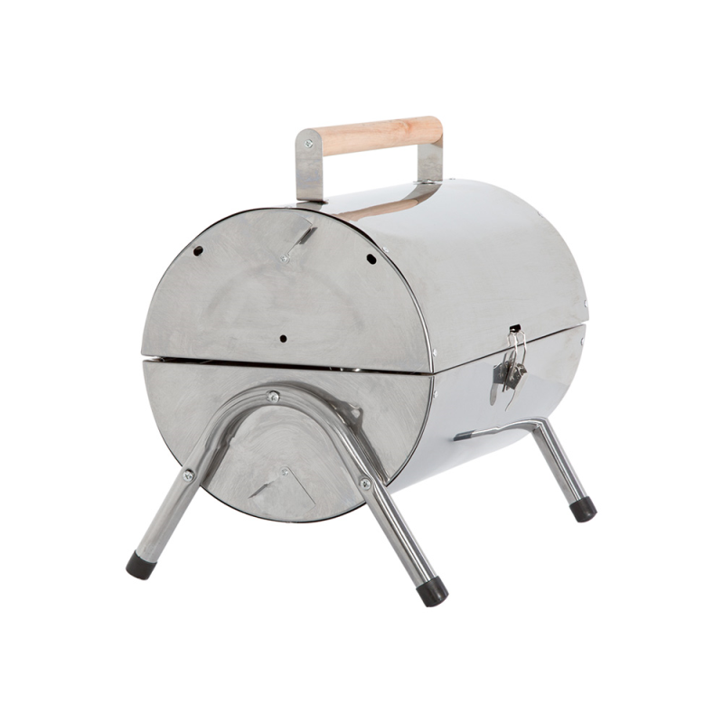 Kingfisher Portable Barrel Stainless Steel  BBQ