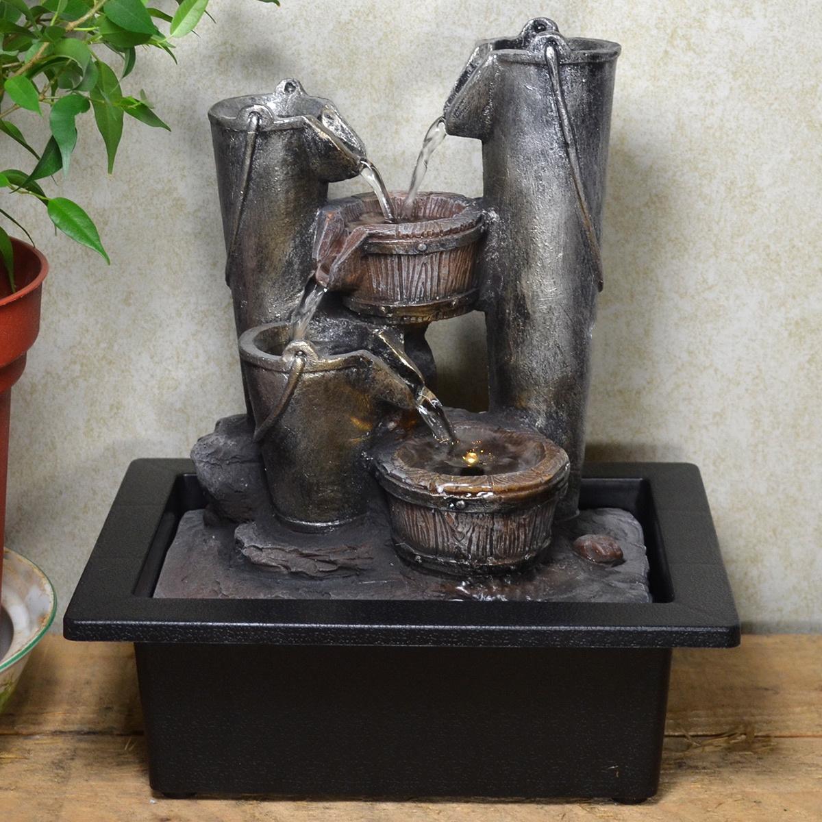 Indoor Fountain Bucket Cascade