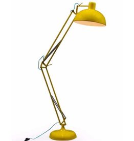 Yellow Extra Large Classic Desk Style Floor Lamp