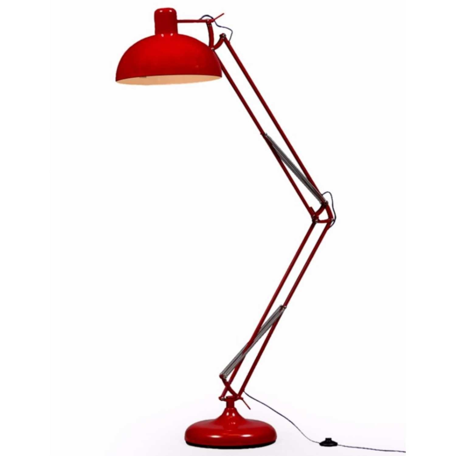 Red Extra Large Classic Desk Style Floor Lamp