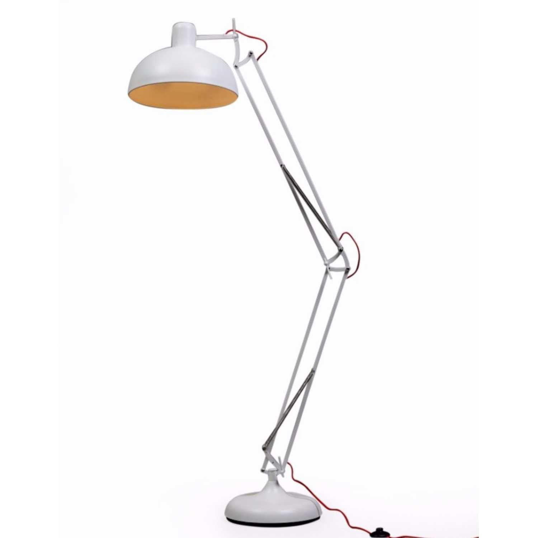 Matt White Extra Large Classic Desk Style Floor Lamp