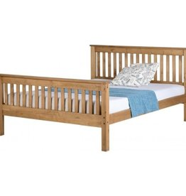 Seconique Monaco King Size Bed - Distressed Waxed Pine