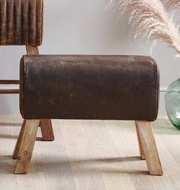 Besp-Oak Brushed Buffalo Leather Pommel Medium
