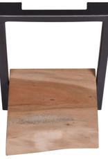 Besp-Oak Arkwright Industrial Style Iron and Wood Framed Single Shelf