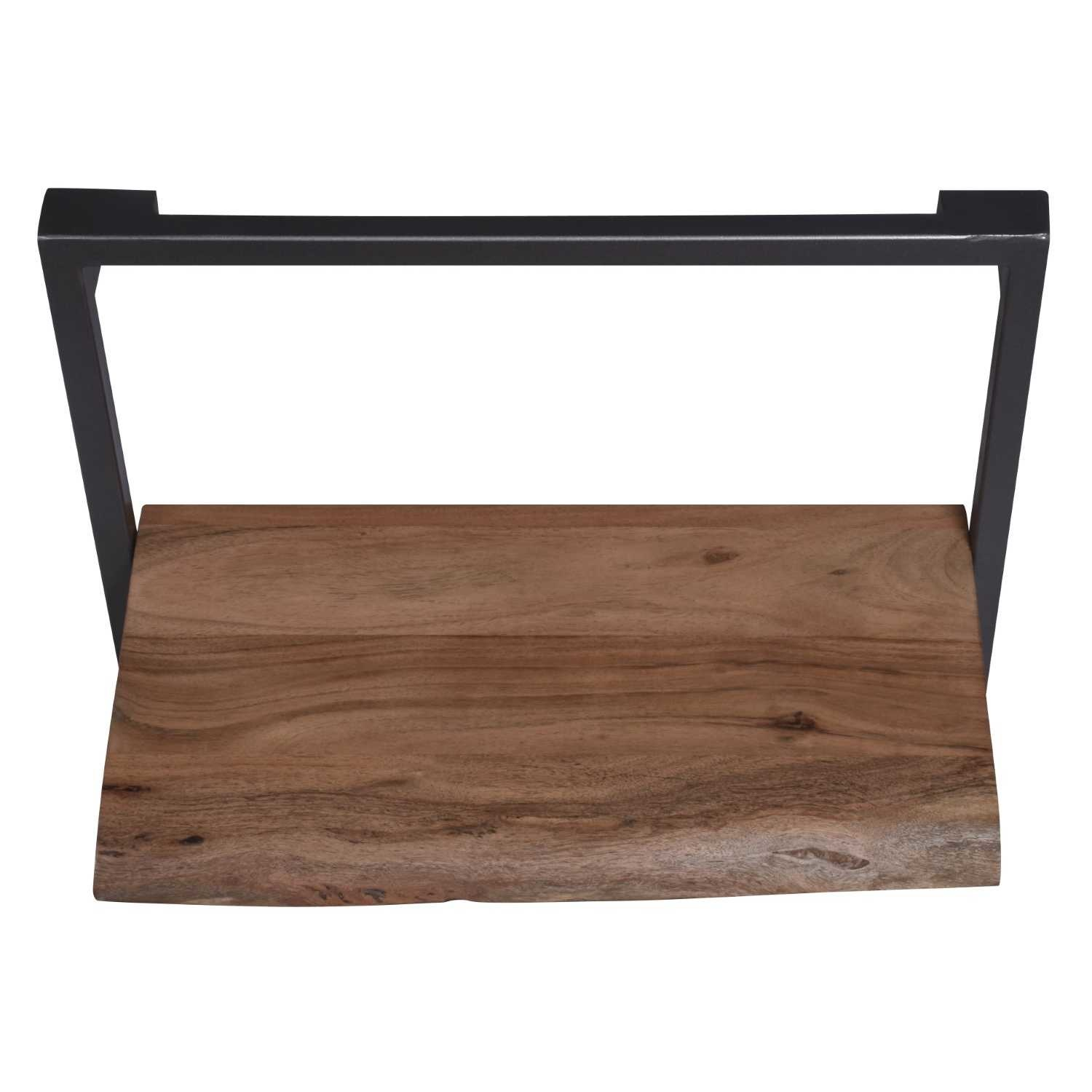 Besp-Oak Arkwright Industrial Style Iron and Wood Framed Shelf