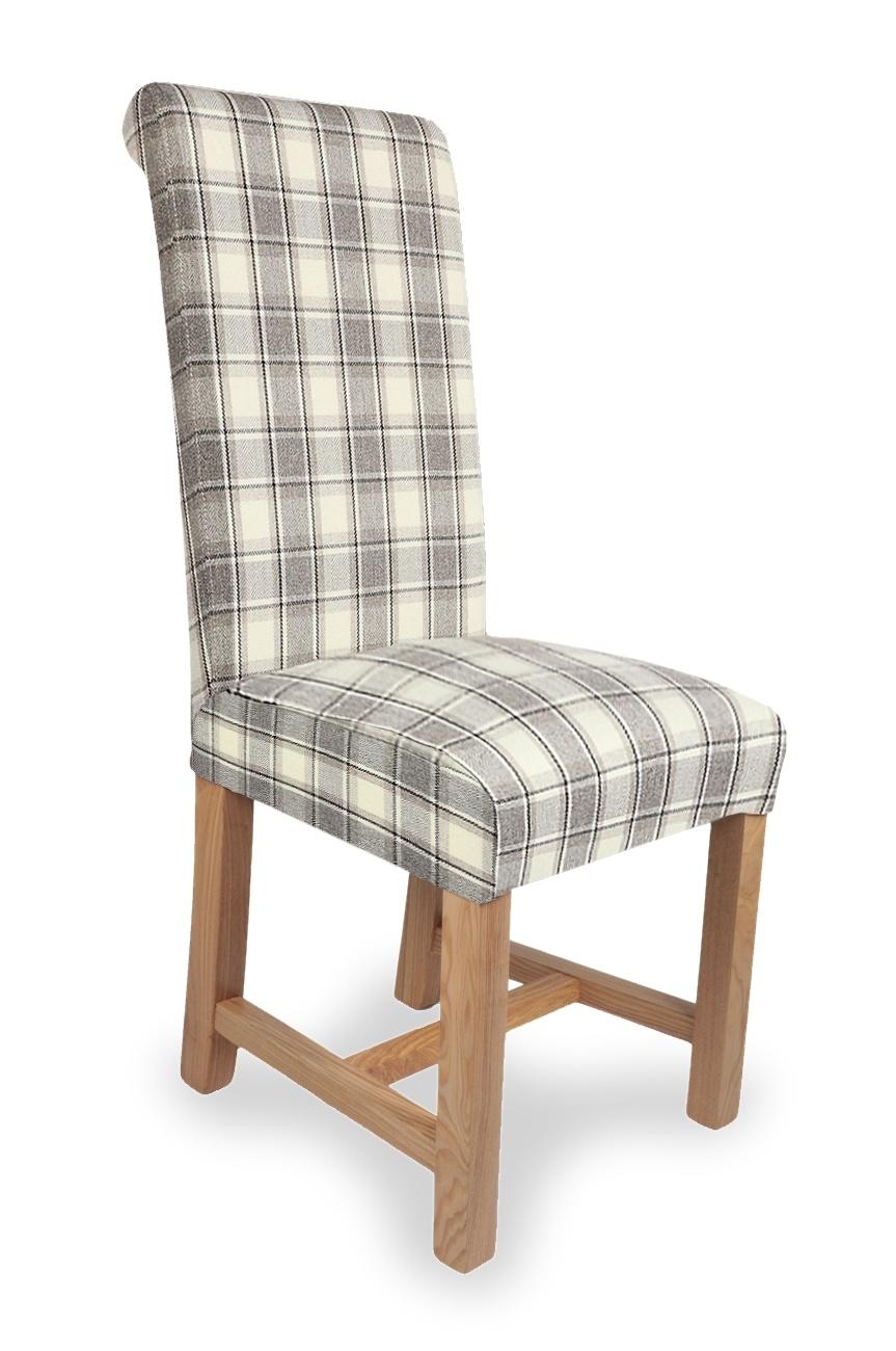 Shankar Richmond Herringbone Check Dining Chair Cappucino - Pair