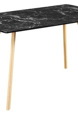 Marble Effect Dining Table - White or Black