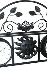Decorative Wall Planter with Clock  and Thermometer