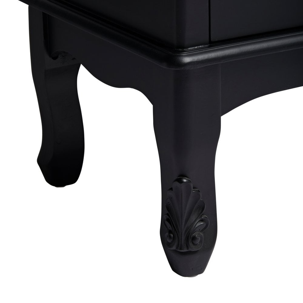 LPD French 5 Large Drawer Chest - Black