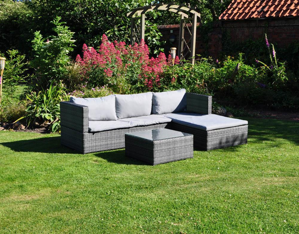 Kingfisher Rattan Corner Sofa Set