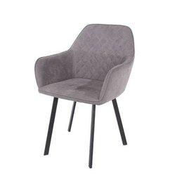 Grey Fabric Dining Chair - Pair