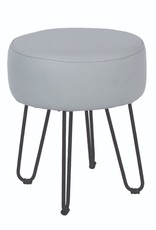 Cool Grey PU Round Stool