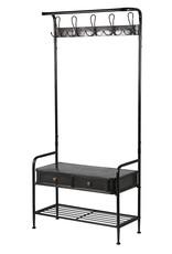 Black Metal Cloakroom Stand