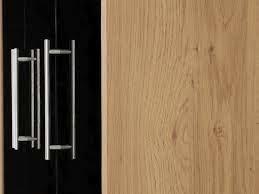 Seconique Seville 3 Door 2 Drawer Black Wardrobe