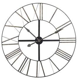 Large Distressed Metal Clock