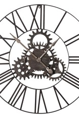 Large Fixed Cogs Metal Clock