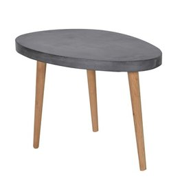 Oval Coffee Table Concrete Top