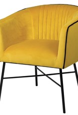 Mustard Piped Club Chair