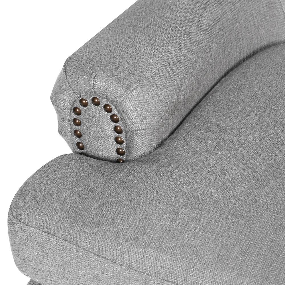 Light Grey Linen Armchair