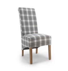 Shankar Krista Roll Back Herringbone Check Cappuccino Chair