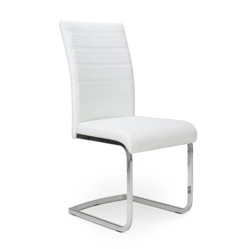 Shankar Callisto Leather Effect White Dining Chair