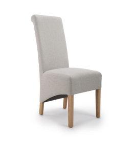 Shankar Krista Roll Back Herringbone Plain Cappuccino Chair