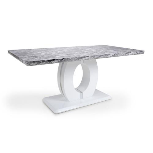 Shankar Neptune Large Marble Effect Dining Table