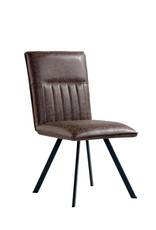 Brown PU Dining Chair - Pair
