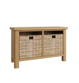 Essentials Rustic Oak Hall Bench