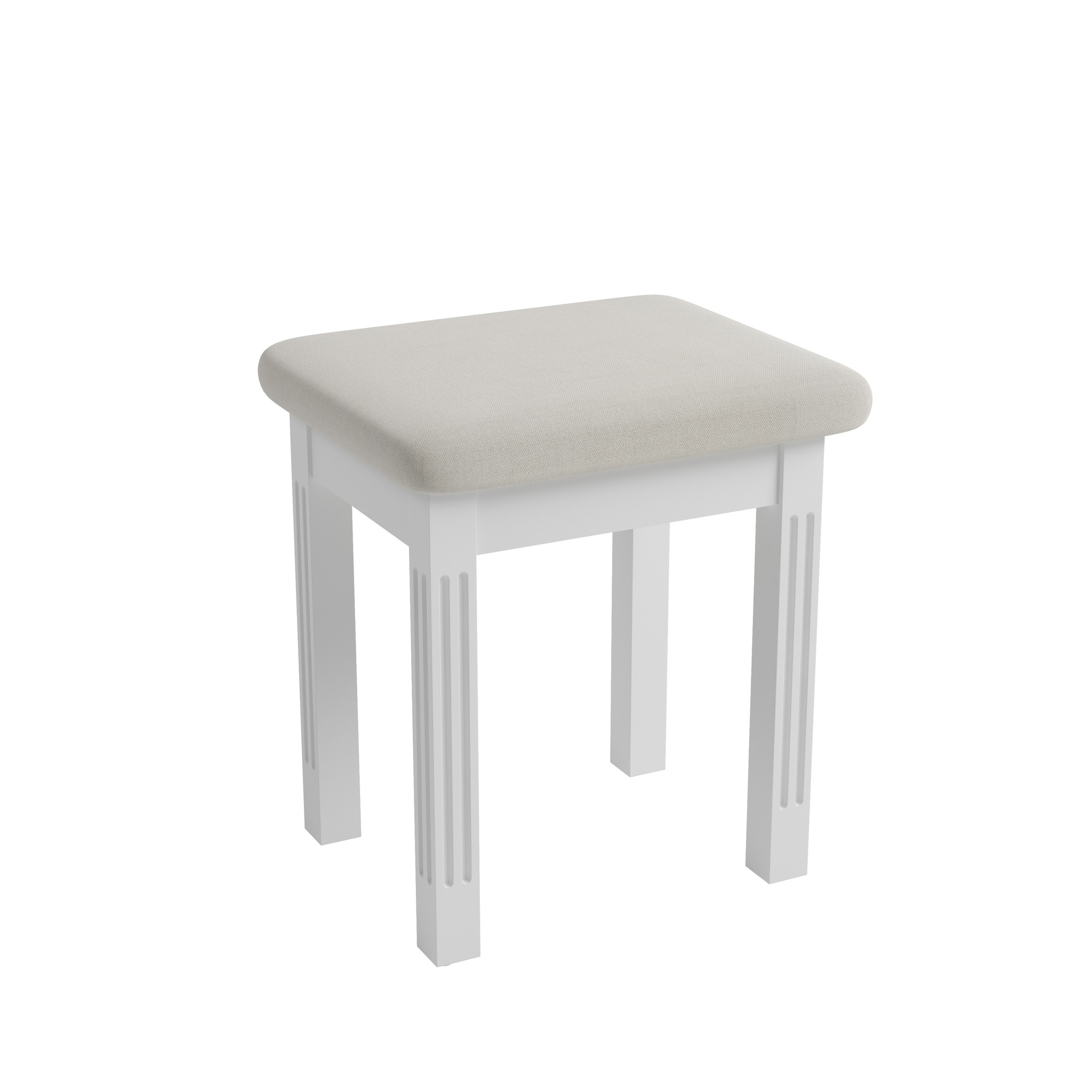 Essentials Elegant Painted White Stool