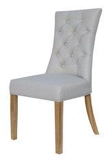 Essentials Curved Button Back Chair - Natural