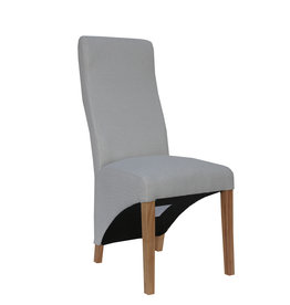 Essentials Wave Back Fabric Chair - Natural