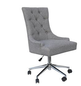 Essentials Winged Button Back Office Chair - Light Grey