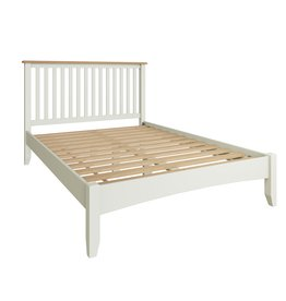 Essentials Painted Double Bed - White
